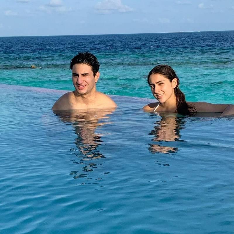 actress sara ali khan is enjoying her vacation with her brother ibrahim ali khan - Sara Ali Khan Bikini Pictures | Hot Sara Ali Khan Bikini Photos Are Really Astonishing