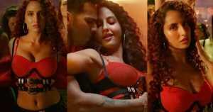 nora fatehi hot in garmi street dancer 3d navel cleavage
